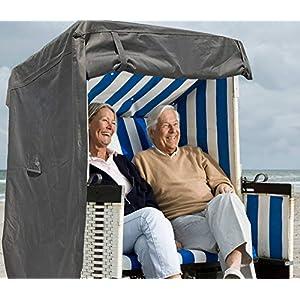 North Finest Premium Strandkorbhülle aus 600D Oxford | wasserdichte Strandkorb Schutzhülle | Atmungsaktiv | Winterfeste…
