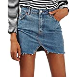 Damen Denim Röcke - Mode Hoch Taillierte Slim Fit A-linie Minirock Sommer Frühling Casual Bleistiftröcke Streetwear Plus Größen