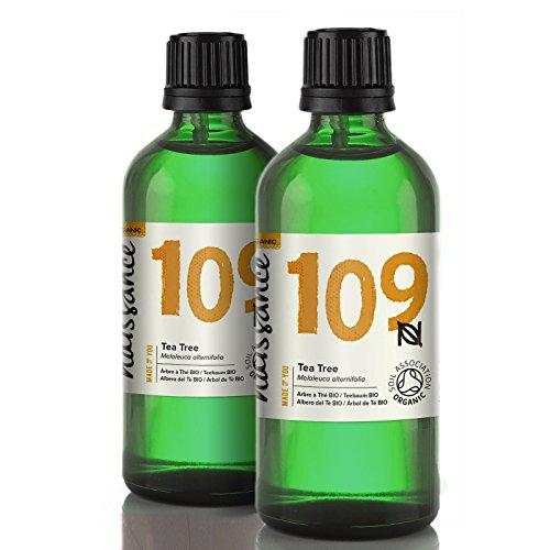 Naissance Teebaumöl BIO (Nr. 109) 200ml (2x100ml) – Australisch – 100% naturreines ätherisches Öl, natürlich, bio-zertifiziert, vegan