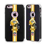 Head Case Designs Offizielle NFL Helm Green Bay Packers Logo 2 Grau Guardian Hülle für iPhone 6 Plus/iPhone 6s Plus