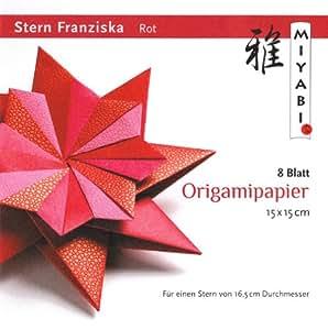 Stern Franziska mit Anleitung(deutsch), Rot
