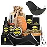 Beard Care Kit ATMOKO 9 in 1 Beard Grooming Kit for Men-Contains Unscented