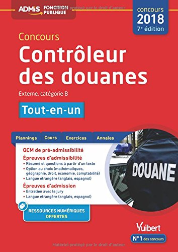 Concours Contrôleur des douanes - Catégorie B - Tout-en-un - Concours 2018