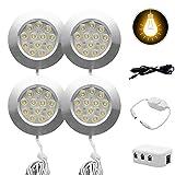 Auto-Innenbeleuchtung - MASO 4x12V 3W Innen-LED-Scheinwerfer-Ladegerät für Camper Van Caravan Motorhome, weißes Licht