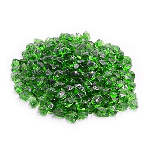 Skyflame 3D-Feuerglas-Perlen für Feuerstelle/Feuerstelle/Landschaftsbau, 3,8 kg, 1,3 cm, Grün (Propan Kamin Heizung)
