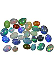 Banithani 100 % naturel éthiopien Welo Fire Opal Multi couleur jouer calibré pierres précieuses en vrac