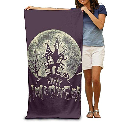 alloween Adult Beach Towels Plush Multipurpose Use for Swim Beach Camping Yoga Quick Dry ()