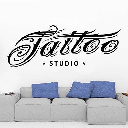 WWYJN Tattoo Studio LogoWandkunstAufkleber Dekor ModeCoolesDesign Tattoo Vinyl Aufkleber Tattoo Studio Schaufenster Kunst Dekoration77x41cm (Gucci Stehen)