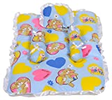#10: Baby Basic Bed with Pillow, Neck Pillow and Bolster Set (Blue)