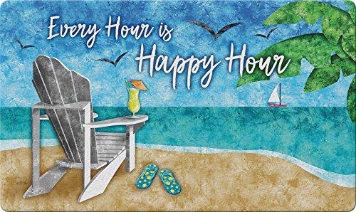 Toland Home Garden Happy Hour Beach 45,7x 101,6cm Dekorative Tropical Fußmatte Cocktail Fußmatte -