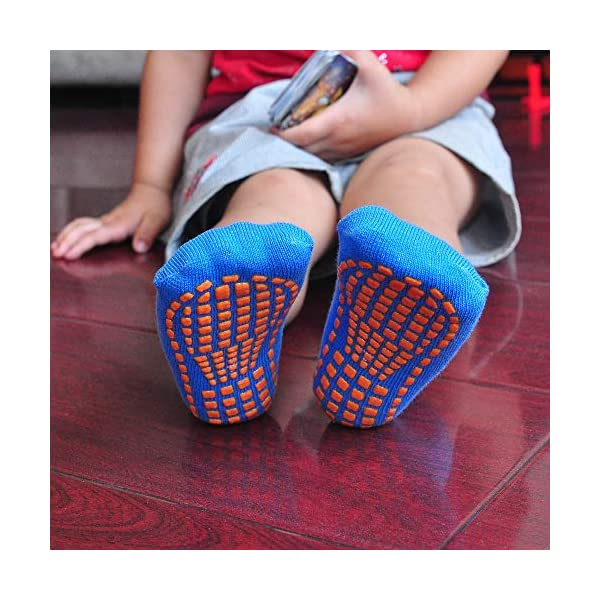 MaoXinTek Calcetines Antideslizantes para Niños Pequeños Algodón Lindo con Puños, Calentar 8 Pares de Zapatillas… 4
