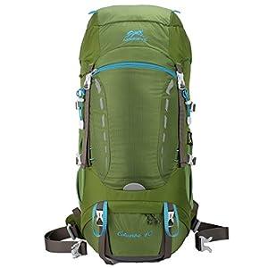 Eshow 40L Mochilas de Montaña Acampada al Aire Libre Impermeable Macutos de Viaje Senderismo Trekking con Cubierta de…