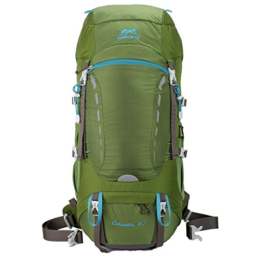Imagen de eshow 40l  de senderismo al aire libre de nailon impermeable  montaña  de viaje para hombre y mujer color verde armado