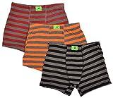 GREYLEAF Boys' Trunk, Pack of 3 (GLIW0005-ORG/BLK/RED--10Y, Multi-Coloured, 10Y)