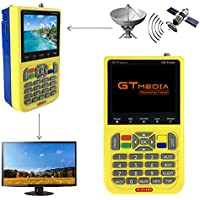 """GT MEDIA V8 Satellite Finder DVB S2 Localizadores de Satélites Buscador de satélite FTA Receptor de Señal de Satélite de TV Digital HD, 3.5"""" LCD Batería 3000mAh Incorporada"""
