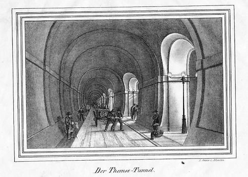 Thames Tunnel (Thames Tunnel London Themse Original Lithographie)