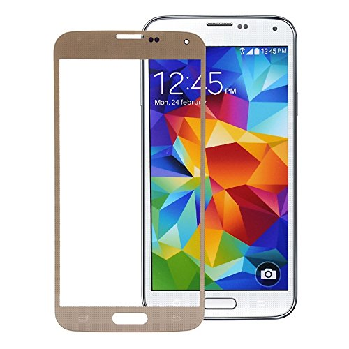 LussoLiv Front Screen Outer Glass Lens for Samsung Galaxy S5 / G900 (Gold)