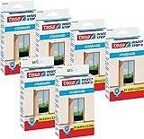 6 Stück tesa Fliegengitter für Türen Standard, anthrazit, durchsichtig, 2 x 0,65m x 2,2m