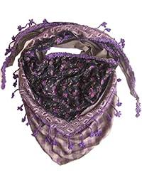 Luxury Lace edge Multi layer Triangle Flower scarves Purple