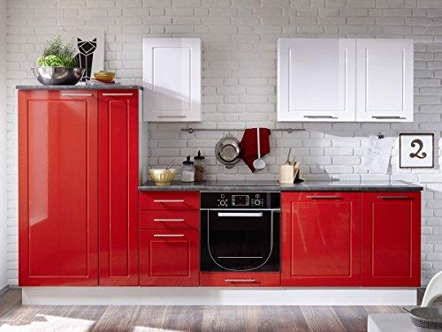 SOFIE Küchenblock rot/weiß