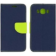 Avizar Custodia a Portafoglio Fancy Stile per Samsung Galaxy J52016–Blu Navy