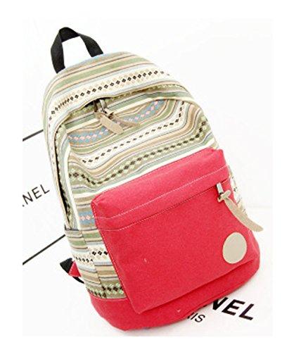 Keshi Leinwand Cool Damen accessories hohe Qualität Einfache Tasche Schultertasche Freizeitrucksack Tasche Rucksäcke Rot