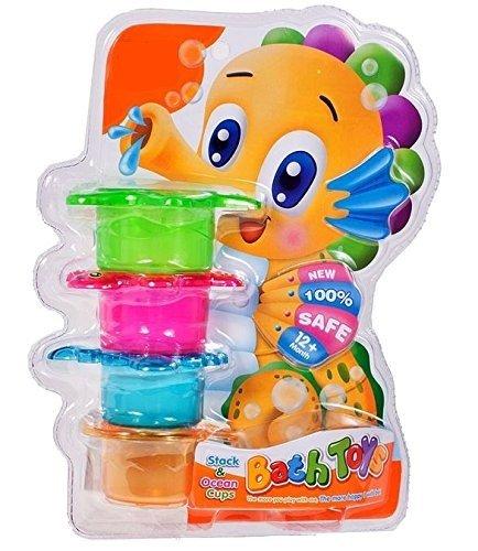 th Toys für Baby & Kinder - Badeförmchen Meerestiere mit genialen Wasserfließeffekten - Badespielzeug Spielzeug für Badewanne & Planschbecken (Genial-spielzeug Für Kinder)