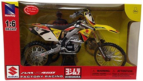 New Ray - 49483 - Véhicule Miniature - Modèle À L'échelle - Moto Cross Suzuki Rmz 450 J. Stewart 2014 - Echelle 1/6