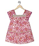 Budding Bees Pink Printed Embroidered A-...