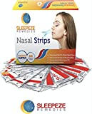 Nasal Strips Medium x30 (NEW PACK SIZE!) Sleepeze Remedies® Nose Strips For Snoring and Helping You Breathe Right Through Your Nose | Premium Snore Strips That Support Sleep Apnea, Nasal Congestion