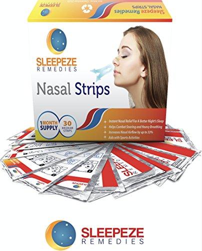 Nasenpflaster mittel x30 | Nasenstrips stoppen das gegen Schnarchen und helfen Ihnen besser atmen | Premium Qualität Nasenpflaster Wie Schnarchstopper Nasenstrips durch Sleepeze Remedies