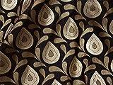 Indischer Stoff Hochzeitskleid schwarz Brokat Brautschmuck