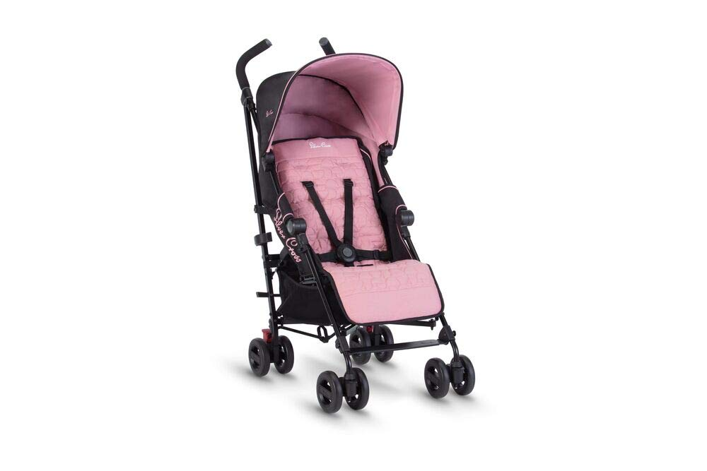 Silver Cross Zest Powder Pink Silver Cross Ultra lightweight zest pushchair, weighing in at only 5.8kg, is suitable from birth up to 25kg It has a convenient one-hand fold, while the compact design makes it easy to store The fully lie-flat recline is best in its class 3