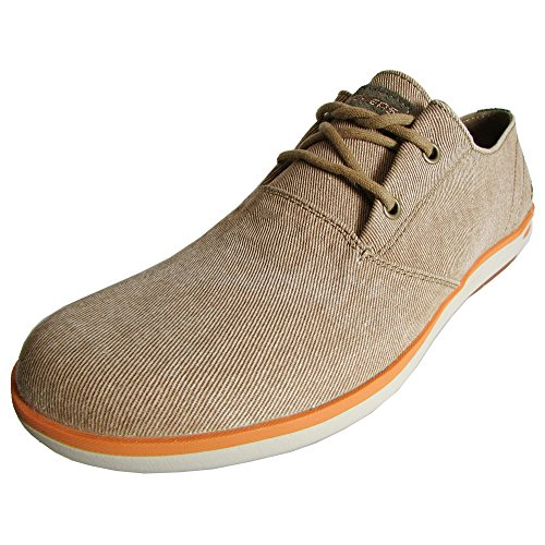Skechers Uomo Relaxed Fit Spencer Leandro 64077 Oxford scarpe Brown