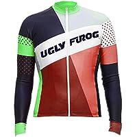 Uglyfrog Ciclismo Maillots Hombres Manga Larga Primavera MTB Jersey Desgaste de la Bici de Montaña Transpirable