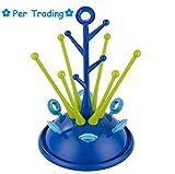 Per bébé Bouteille séchage Rack Bouteille Sèche-linge arbre de forme utile de nettoyage biberon séchage étagère,3 couleurs disponibles (bleu foncé)
