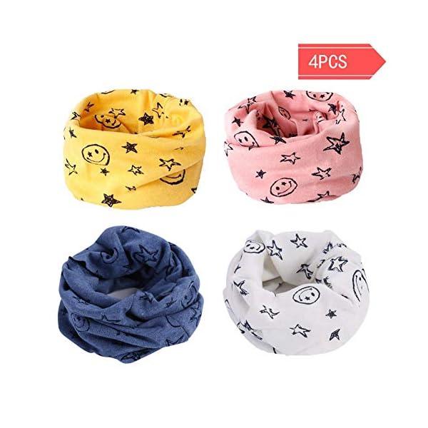 Danolt Bufanda de los niños, Bufanda de algodón de Invierno Calentador de Cuello Pañuelos para bebés, niños y niñas, 0-3… 1