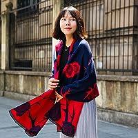 TSLX-Moda cálida mantón Bufanda 190X70,C