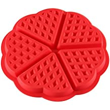 Top Quality Silicone Waffles Muffin Heart Shaped Mold Cake Chocolate Kitchen Baking Tool New