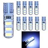 Superbright 10pcs 194 168 175 2825 W5W 158 161 T10 LED Auto-Glühlampe, verwendet für Signalleuchten , Kofferraumbeleuchtung , Armaturenbeleuchtung , Standlicht