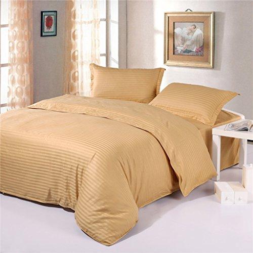 Einzelbett Sets Königin Bettwäsche-Sets Erwachsene Jugendliche Baumwolle Weiß Grau Bettbezug Set 4 PCS Kissenbezüge Einfach ( Farbe : Gelb ) (Königin Bettbezug Grau)