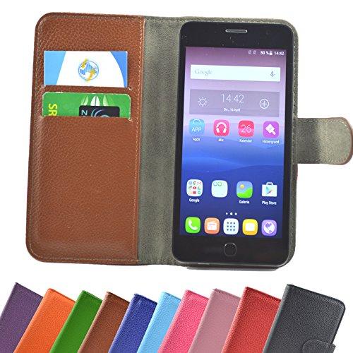 Mobistel Cynus E7 Smartphone / Slide Kleber Hülle Case Cover Schutz Cover Etui Handyhülle Schutzhülle YT in Braun