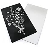 Glass Floral Chopping Board Worktop Saver and Hob Cover Set of 2