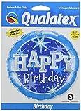 PIONEER BALLOON COMPANY 37919 18 Happy Birthday Blue Sparkles Balloon Pack Ballon, blau