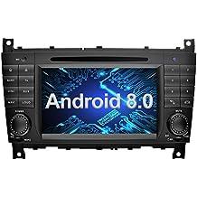 Ohok 7 Pollici Android 8.0.0 Oreo Octa Core 4G+32G 2 Din In Dash Autoradio Schermo di Tocco Lettore DVD Navigatore GPS Con Bluetooth Per Mercedes-Benz C-Class W203 / Benz CLK W209