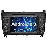Ohok 7 Zoll Bildschirm 2 Din Autoradio Android 8.0.0 Oreo Octa Core Radio mit Navi Moniceiver DVD GPS Navigation Unterstützt Bluetooth WLAN DAB+ für Mercedes-Benz C-Class/CLK
