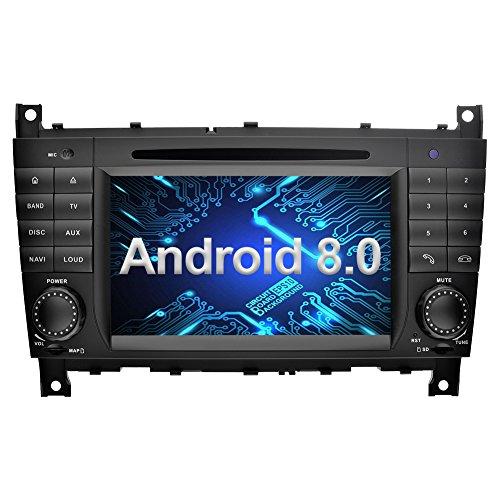 Ohok 7 Zoll Bildschirm 2 Din Autoradio Android 8.0.0 Oreo Octa Core Radio mit Navi Moniceiver DVD GPS Navigation Unterstützt Bluetooth WLAN DAB+ für Mercedes-Benz C-Class/CLK - Mercedes Benz Verstärker