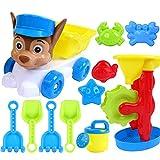 Seciie Sandspielzeug, 11St. Kinder Sandspielset Sommer Kinder Strandspielzeug Set mit Großem Strandwagen für Kinder ab 2 Jahre