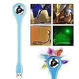 Lamavido USB-Leselampe mit wechselnder Farbe, Mini USB LED-Licht, einstellbarer Winkel, tragbare, flexible LED-Lampe mit USB für Powerbank, PC, Laptop, Notebook, Computertastatur, für draußen, energiesparendes Nachtlicht, Farbe: Blau