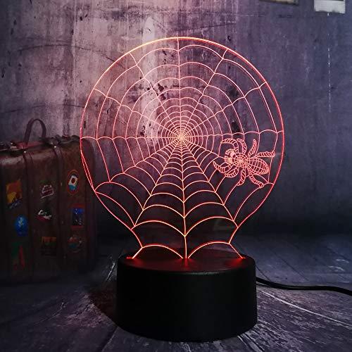 Halloween Furchterregende Szene LED Nachtlicht Spinnennetz Spinnennetz Schreibtischlampe Horror Wohnkultur Kind ()